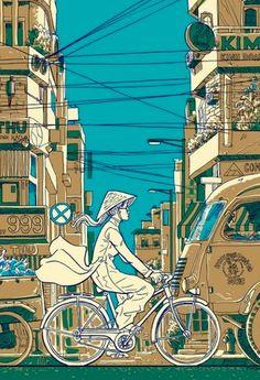 Ho Chi Minh City: artwork by Tim Doyle