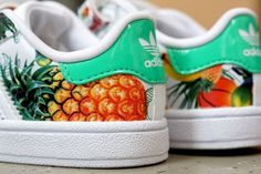 Shoes: hawaï, tropical, pineapple, pineapple print, adidas, stan ...