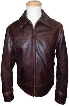 Great example of a genuine Aero leather jacket.  Dustbowl - A Horsehide Jacket Typical of those worn during The Great Depression