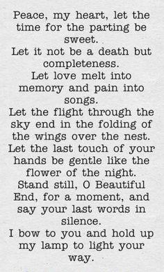 ¤ Poet Ponderings ¤ poetry, quotes haiku - Rabindranath Tagore | Peace