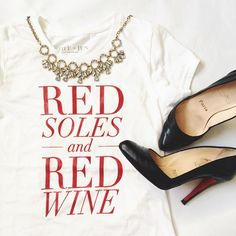 red soles + red wine