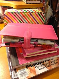 Dreams of organization! A Filofax raspberry
