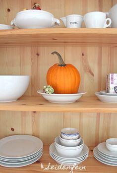seidenfeins Blog vom schönen Landleben: Kürbis am Sonntag und so weiter .... * pumpkin on sunday and so on Pumpkin, Vegetables, Tableware, Kitchen, Blog, Country Living, Sunday, Dekoration, Pumpkins