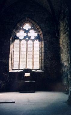 Photo taken by Joyce Sandilands of Canada in 2002 of the Main Floor Chapel window in Torphichen Preceptory, Village of Torphichen, West Lothian, Scotland. www.jrobertwhittle.com