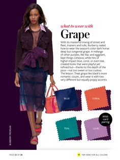 Instyle - What to wear with GRAPE