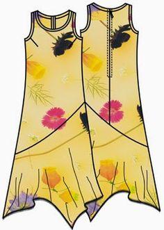 Patrón gratis vestido tallas grandes 50-66