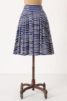 Zagged Stripes Skirt, Anthropologie