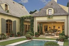 Loggia Want more room in yard to pool, but this is pretty awesome!