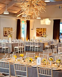 love the layout of the centerpieces!