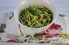 Trofie al Pesto de manjericão e agrião | O Mundo Culinario de Bia Flores