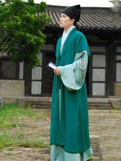 Green Half-sleeve Handsome Tang Dynasty Hanfu Clothing