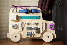Tablero ocupado, tablero de la actividad, tablero sensorial, juguete educativo de Montessori, juguete de madera, tablero de cierre