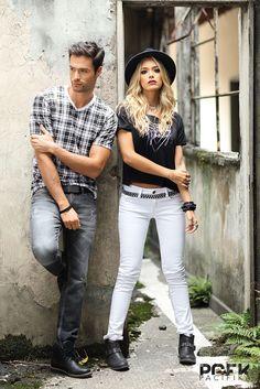 www.pacifika.com.co Moda Urbana Couple Posing, Couple Shoot, Couple Photography, Fashion Photography, Men Photoshoot, Photo Portrait, Fashion Couple, Rock Style, Girl Poses
