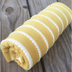 You Are My Sunshine - Cotton Knit Swaddle Stretch Snuggle Baby Blanket Yellow Striped by Mint Chocolate Chip