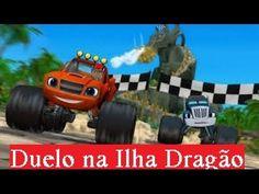 """Vai Blaze and the Monster Machine """"Corrida na ilha do Dragão"""" Em Portugu..."""