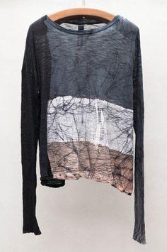 Crackle Long Sleeve Trapeze Top by Gilda Midani $372 | shopheist.com