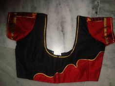 58.Black blouse with Red work