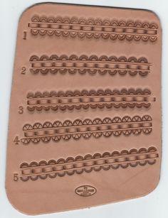 Custom saddle border tooling styles from 33ranchandsaddlery.com