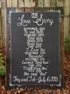Custom wedding sign made with reclaimed wood. Facebook.com/daniellefigueroa.Art
