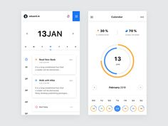 Business calendar designed by Eduard. Connect with them on Dribbble; the global community for designers and creative professionals. Android App Design, App Ui Design, Flat Design, App Form, Business Calendar, Sports App, Mobile App Ui, Data Charts, Music App