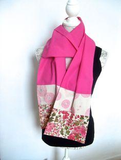 Echarpe, chèche,foulard pour l'été, coton léger et liberty : Echarpe, foulard, cravate par couleur-boheme