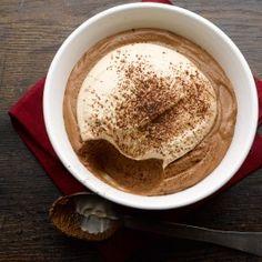 Dark chocolate mousse with baileys and mascarpone cream