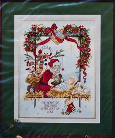 Heart of Christmas - (Cross Stitch) Find your next Christmas design at Cobweb Corner and save 20% on your first purchase with code WELCOMECC  #crossstitch #christmas #santa