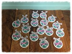 Custom Bag Tags for a cheer squad. #cheersquadgifts