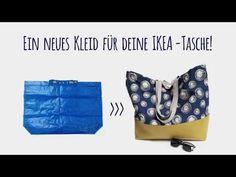 Hier kannst du ganz leicht aus deiner Ikea-Tasche ein echtes Schmuckstück machen! Schau dir unser Video an! Sewing Projects, Ikea, Trunks, Swimwear, Crafts, Youtube, Fashion, Scrappy Quilts, New Dress