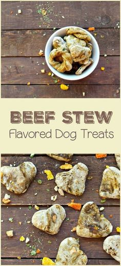 Beef Stew Flavored Dog Treats Recipe: Training Treats Looking for an easy training treats recipe for dogs? Check out our beef stew flavored dog treats, with just 4 ingredients! It's fast, fun & dogs love it! Puppy Treats, Diy Dog Treats, Homemade Dog Treats, Healthy Dog Treats, Homemade Recipe, Dog Biscuit Recipes, Dog Treat Recipes, Dog Food Recipes, Recipe Treats