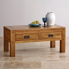 Keep your living room clutter-free with this distinctive 4-Drawer Coffee Table from our Quercus collection.