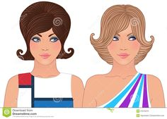 Hairstyle And Makeup Of 1960-1970 Stock Photo - Image: 21616370
