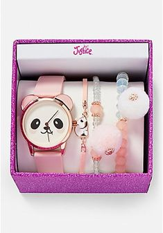 Shop Sells toys for dogs and games for children Products make-up shoes and jewelry watches Trendy Watches, Cute Watches, Panda Love, Cute Panda, Girls Jewelry, Cute Jewelry, Panda Watch, Justice Accessories, Unicorn Fashion