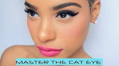 Learn how to MASTER THE CAT EYE Do you struggle when trying to create the perfect cat eye? Do you have trouble getting them to be perfect? Is one always bigg...
