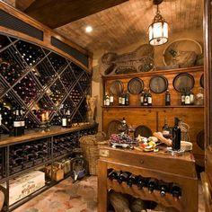 Italian style wine cellar