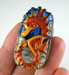 Lampwork Glass Bead Focal Seahorse SRA Purchase For Sale