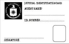secret agent badge template free printable google search