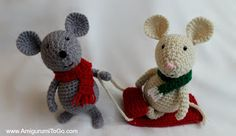 Winter Mouse and Sled ~ Free Pattern: Amigurumi To Go