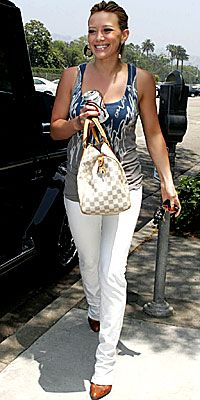 Actress Hillary Duff with Louis Vuitton handbag