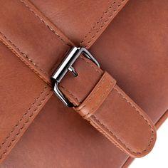 FEYNSINN crossbody shoulder bag - ASHTON - tan-cognac leather: Amazon.co.uk: Luggage