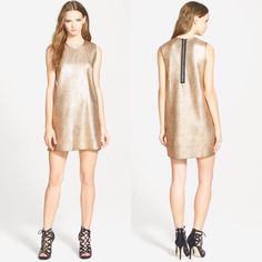 Whitney Eve Gold Shimmer Dress By Whitney Eve, a beautiful light gold shimmer shift dress. Has back zipper. Fits true to size. SAME DAY SHIPPING✨✨ Whitney Eve Dresses