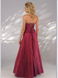 2012 Style A-line Strapless Beading  Sleeveless Floor-length Taffeta Prom Dress / Evening Dress (SZ0254642)