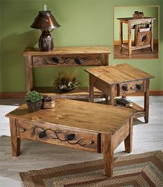 Pinecone Lodge Tables | Wild Wings