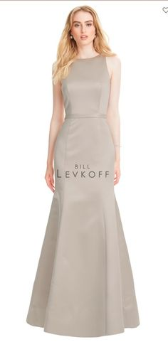 44b93c76c6 Style 1559 from Bill Levkoff is a sleeveless European satin bridesmaid gown  that has an open. French Novelty