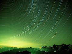 Star Trails Berner Oberland Switzerland photo or wallpaper