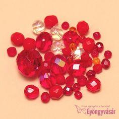 Piros vegyes cseh csiszolt gyöngy (10 g) • Gyöngyvásár.hu Diy Jewelry, 1st Grades, Diy Jewelry Making