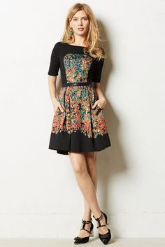 love the color and shapes going on with this dress!