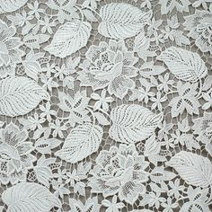 "35.5"" white lace fabric cotton chemical Lace Trim 