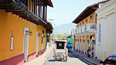Granada. Ville coloniale construite au bord du lac Nicaragua, Granada a été fondée en 1524. Ses bâtiments, églises et ruelles sont remarquablement conservés.