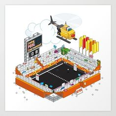 PONG tournament Art Print by Totto Renna